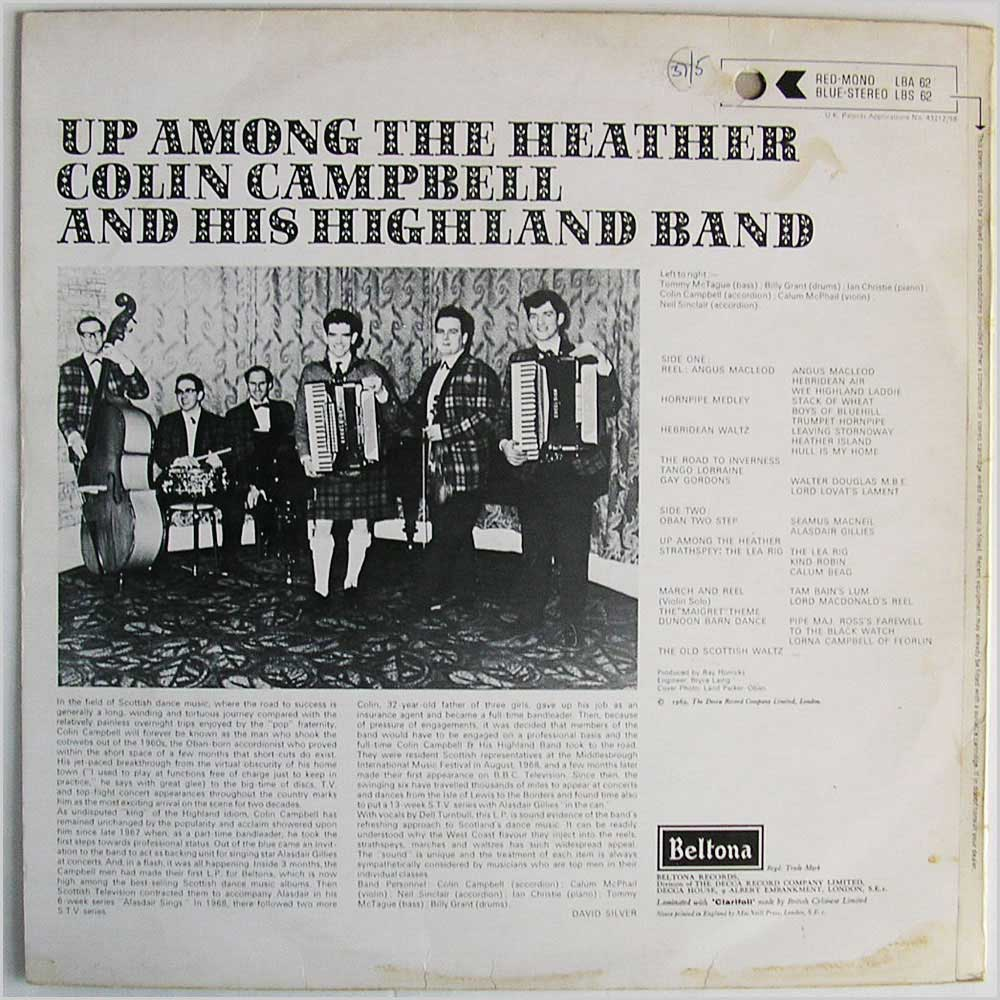 Colin Campbell and his Highland Band - Up Among The Heather (LBS 62)