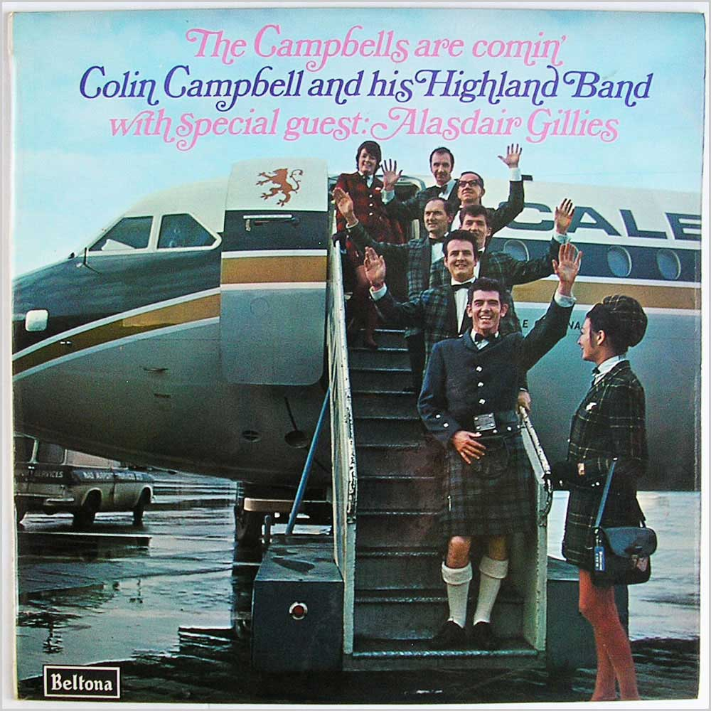 Colin Campbell and his Highland Band - The Campbells Are Comin' (LBS 68)