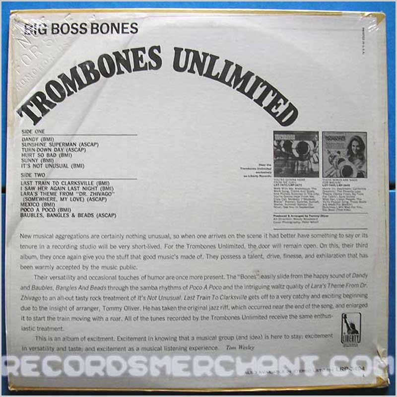 Trombones Unlimited - Big Boss Bones (LRP3494)