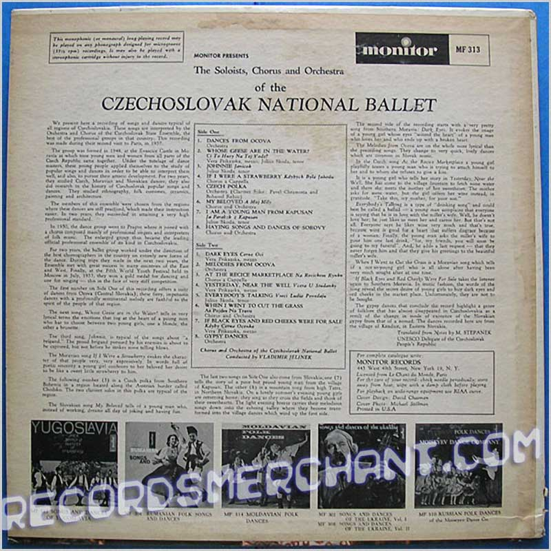 Czechoslovak National Ballet - Songs and Dances (MF 313)
