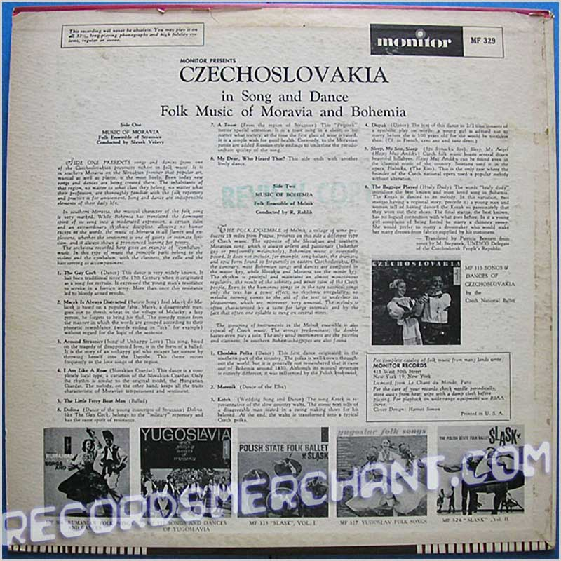 Various - Czechoslovakia in Song and Dance (MF 329)