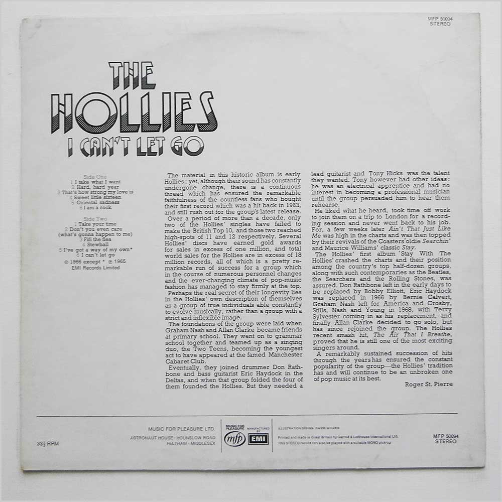The Hollies - I Can't Let Go (MFP 50094)