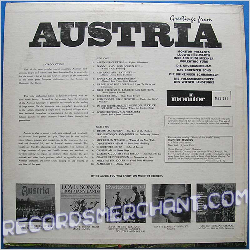 Various - Greetings from Austria (MFS 381)
