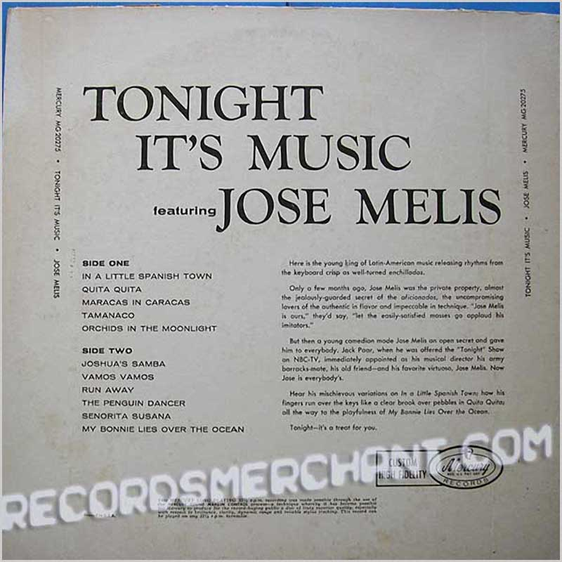 Jose Melis - Tonight It's Music (MG20275)