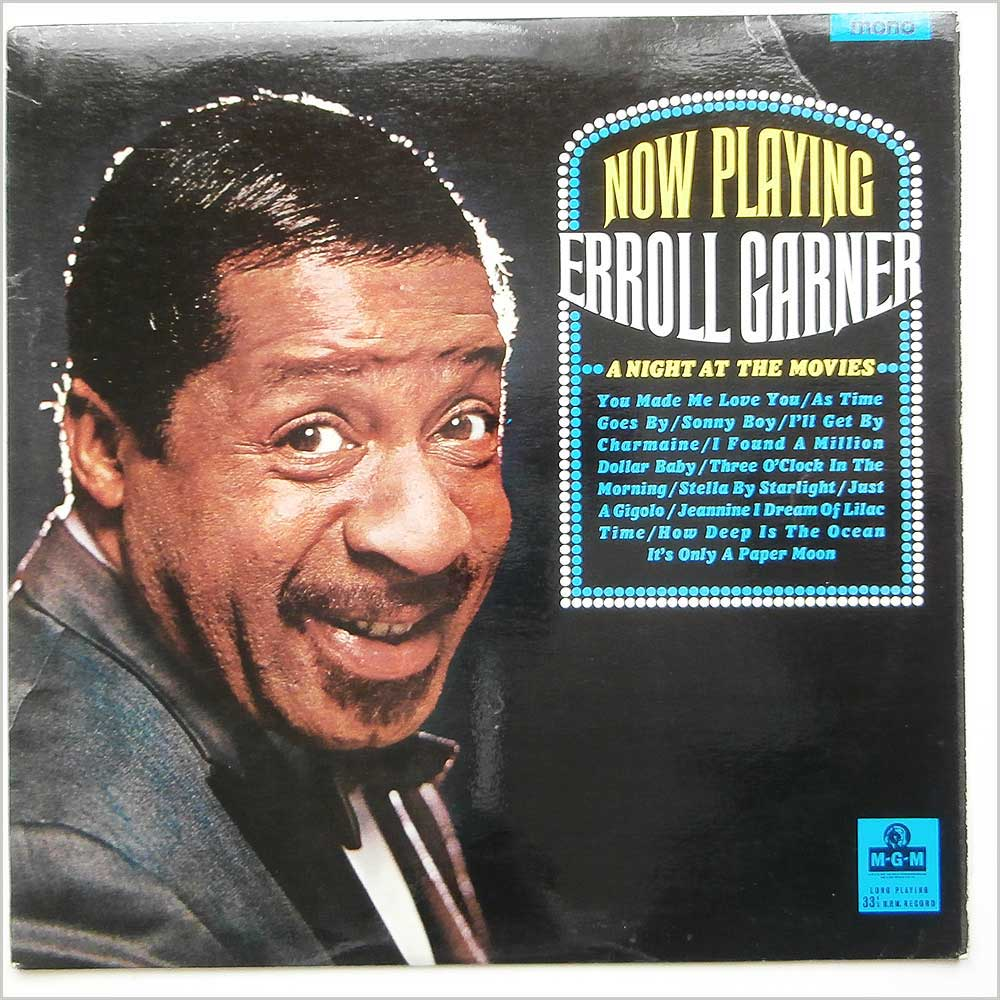 Erroll Garner - Now Playing Erroll Garner A Night At The Movies (MGM C 8004)