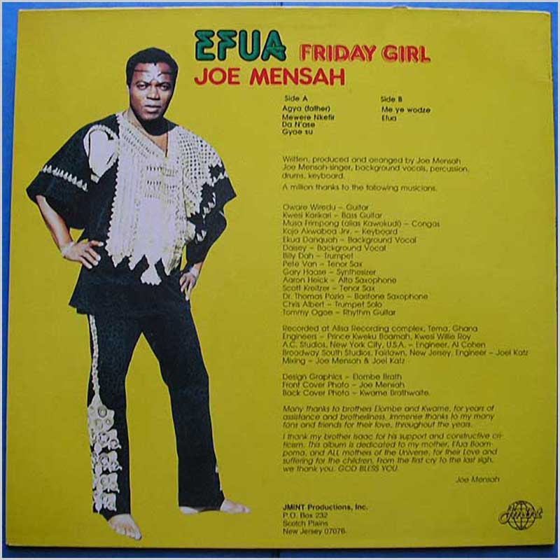 Joe Mensah - Efua Friday Girl (MINT 1000)