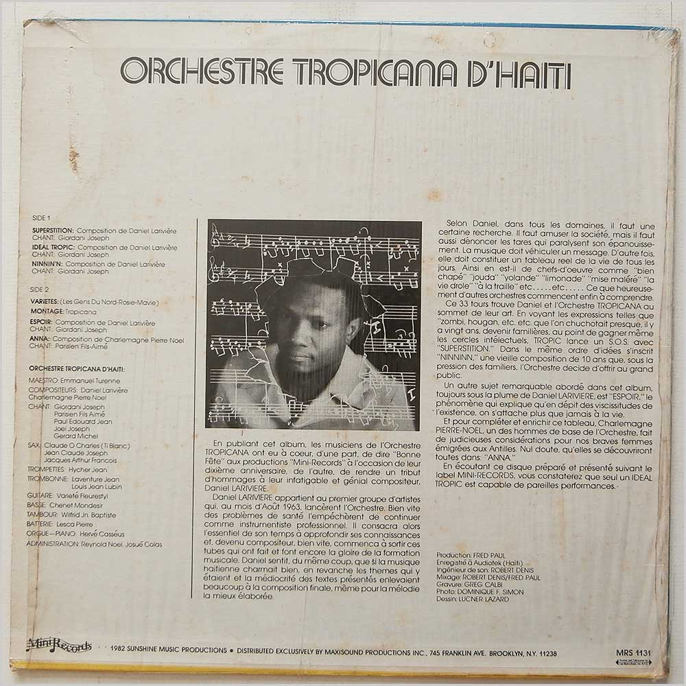 Orchestre Tropicana - Superstition (MRS-1131)