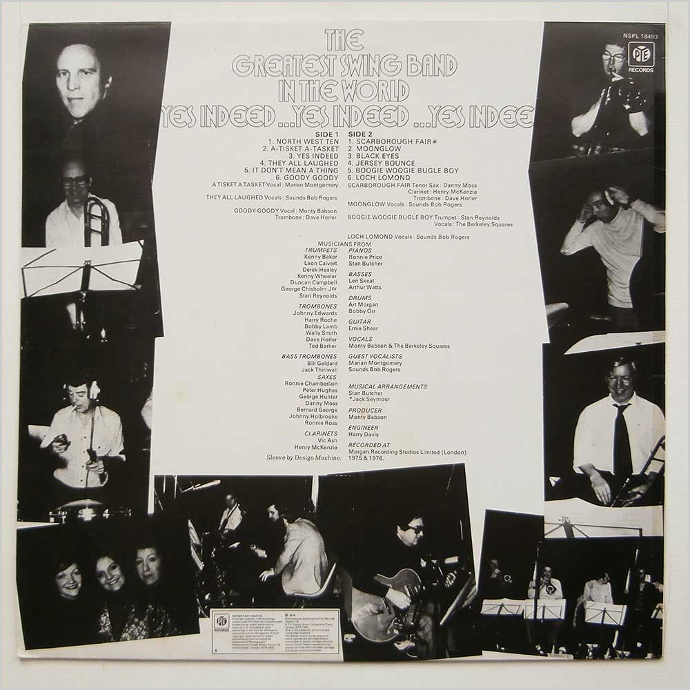 The Greatest Swing Band In The World - Yes Indeed (NSPL 18493)