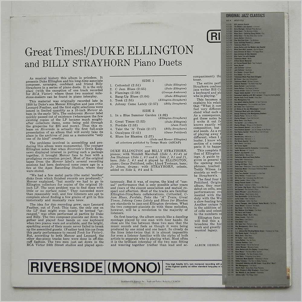 Duke Ellington And Billy Strayhorn - Great Times! (OJC-108)