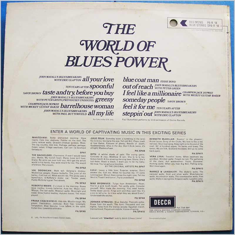 Various - The World Of Blues Power (PA-R 14)