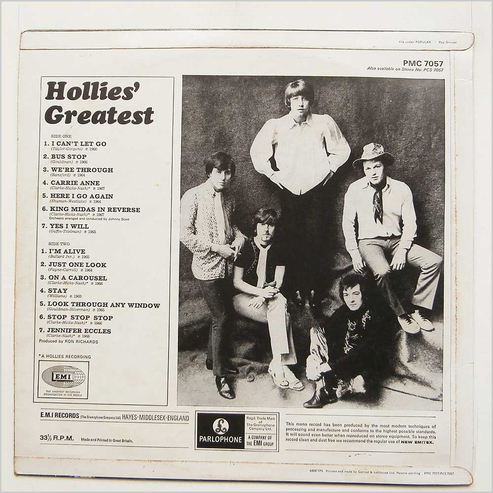 Hollies - Hollies' Greatest (PMC 7057)