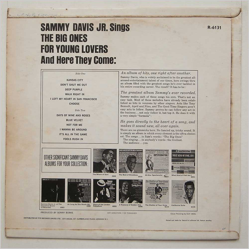 Sammy Davis Jr - The Big Ones For Young Lovers (R-6131)
