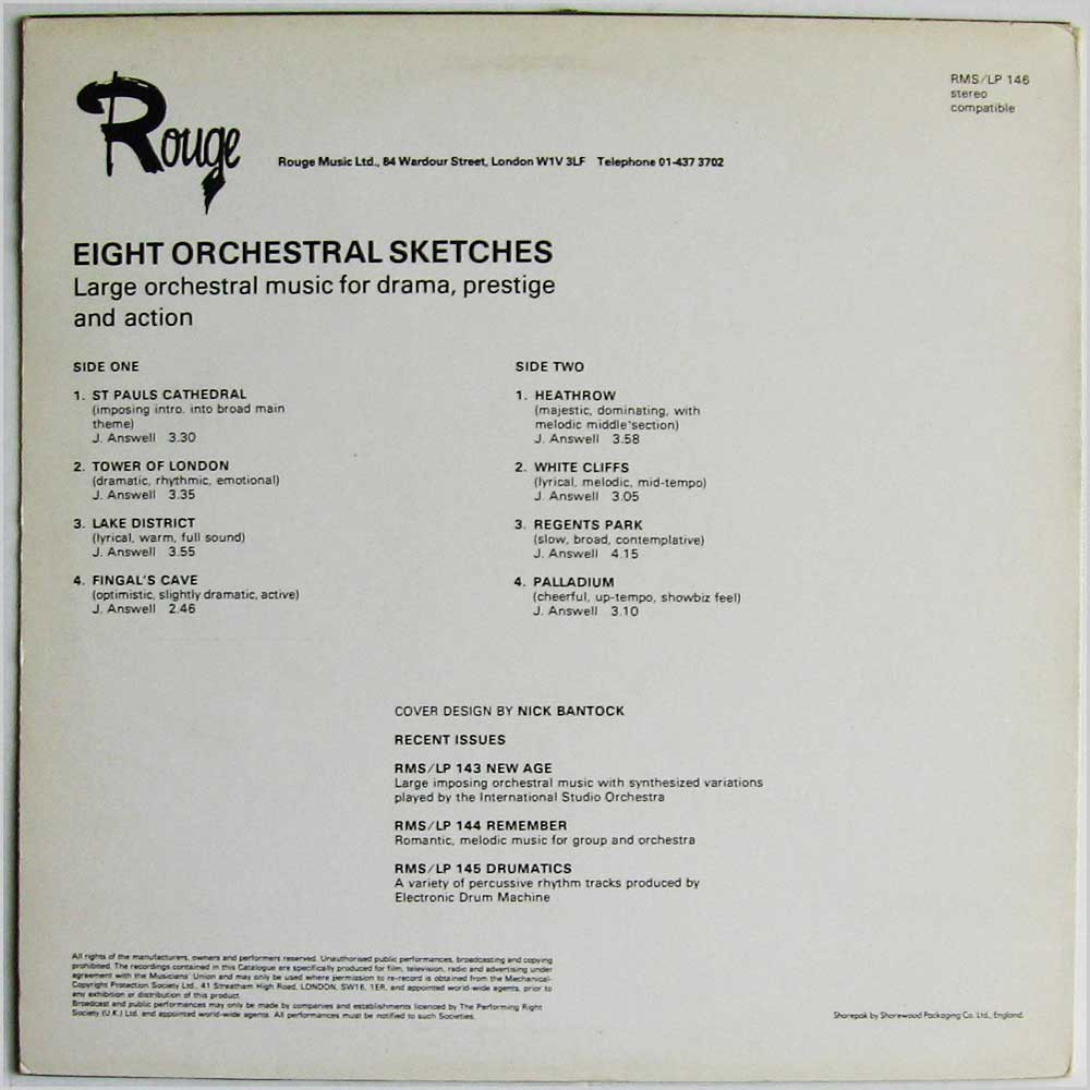 J. Answell - Eight Orchestral Sketches (RMS/LP 146)