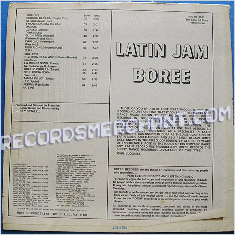 Latin All Stars - Latin Jam Boree (RRLPS-1021)