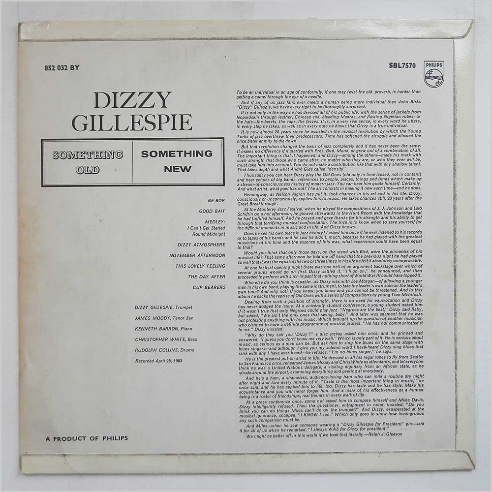 Dizzy Gillespie - Something Old, Something New (SBL 7570)