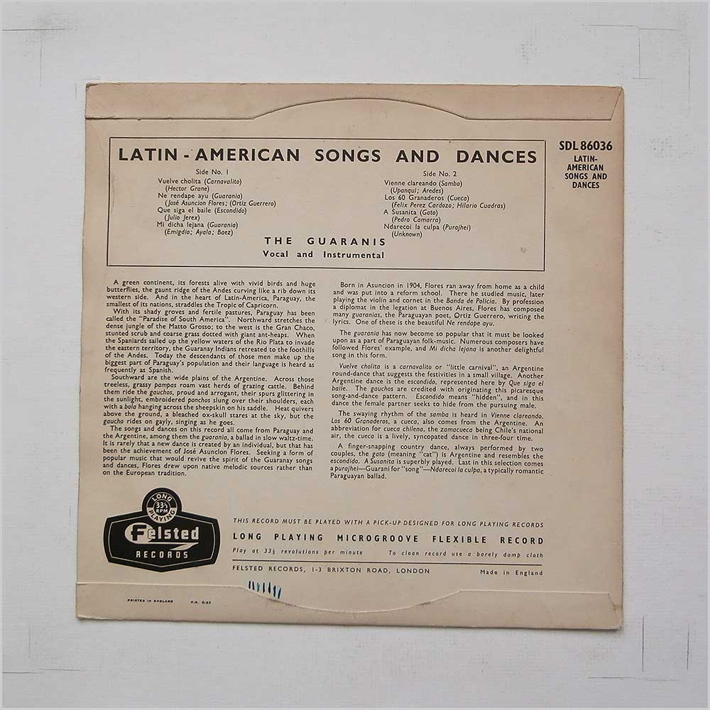 The Guaranis - Latin American Songs And Dances (SDL 86036)