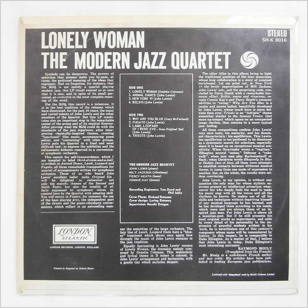 The Modern Jazz Quartet - Lonely Woman (SH-K 8016)