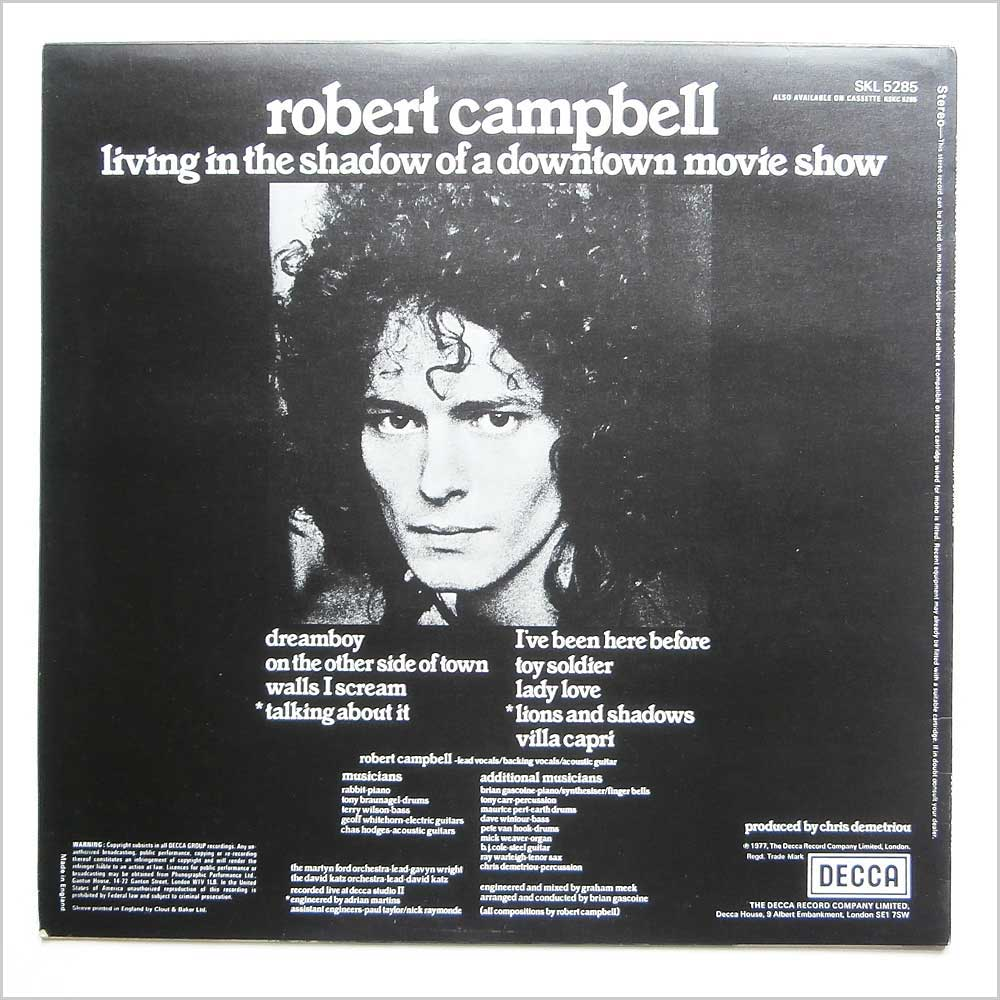 Robert Campbell - Living In The Shadow Of A Dowtown Movie Show (SKL 5285)