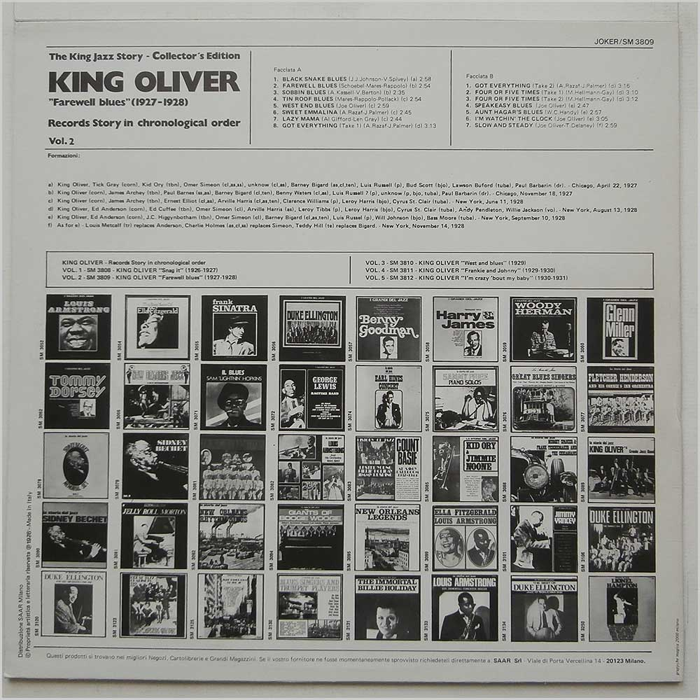 King Oliver - Farewell Blues (1927-1928) (SM 3809)