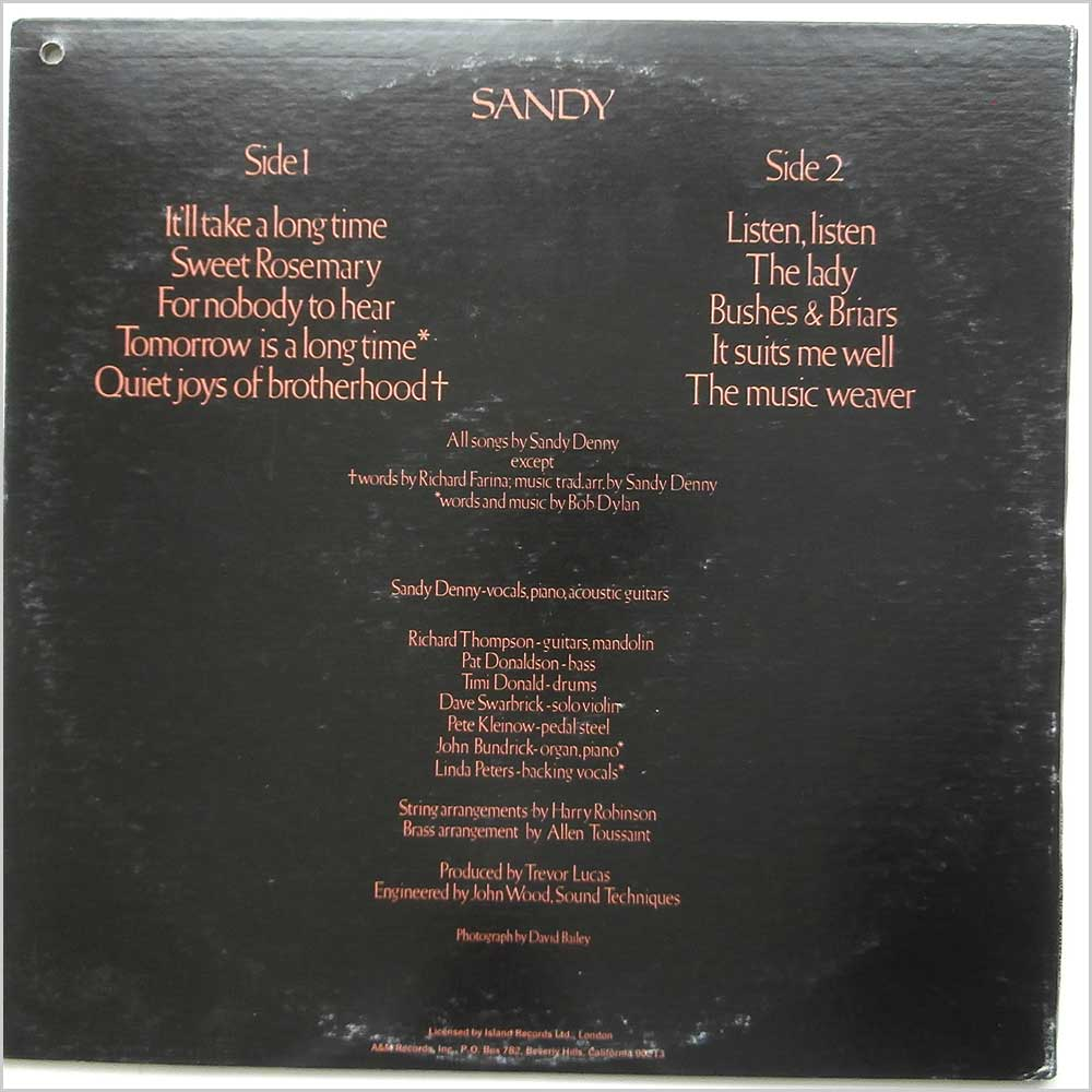 Sandy Denny - Sandy (SP 4371)
