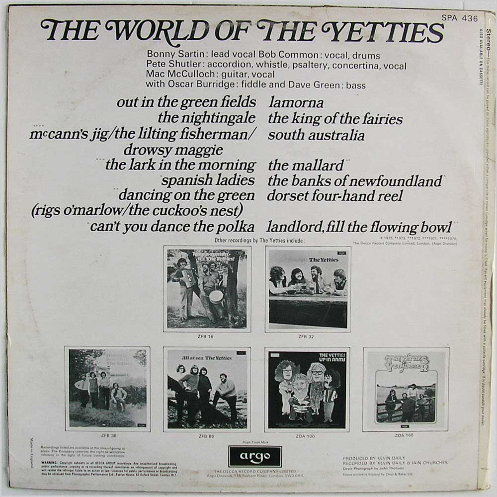 Yetties - The World Of The Yetties (SPA 436)