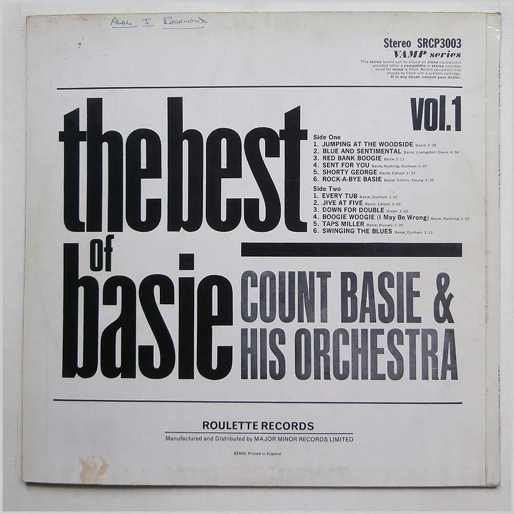 Count Base And His Orchestra - The Best Of Basie Vol. 1 (SRCP 3003)