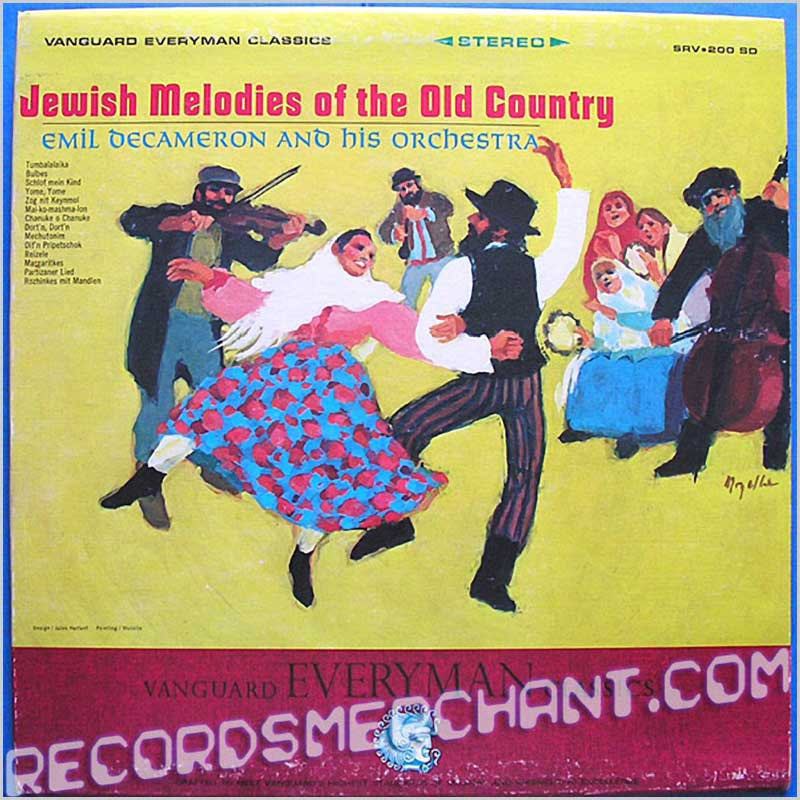 EmIl Decameron And His Orchestra - Jewish Melodies of the old Country (SRV 200 SD)
