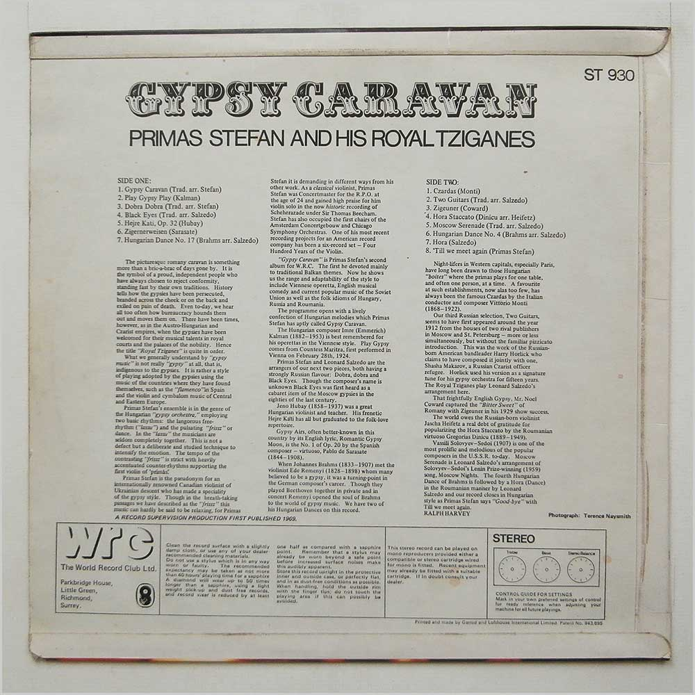 Primas Stefan And His Royal Tziganes - Gypsy Caravan (ST 930)