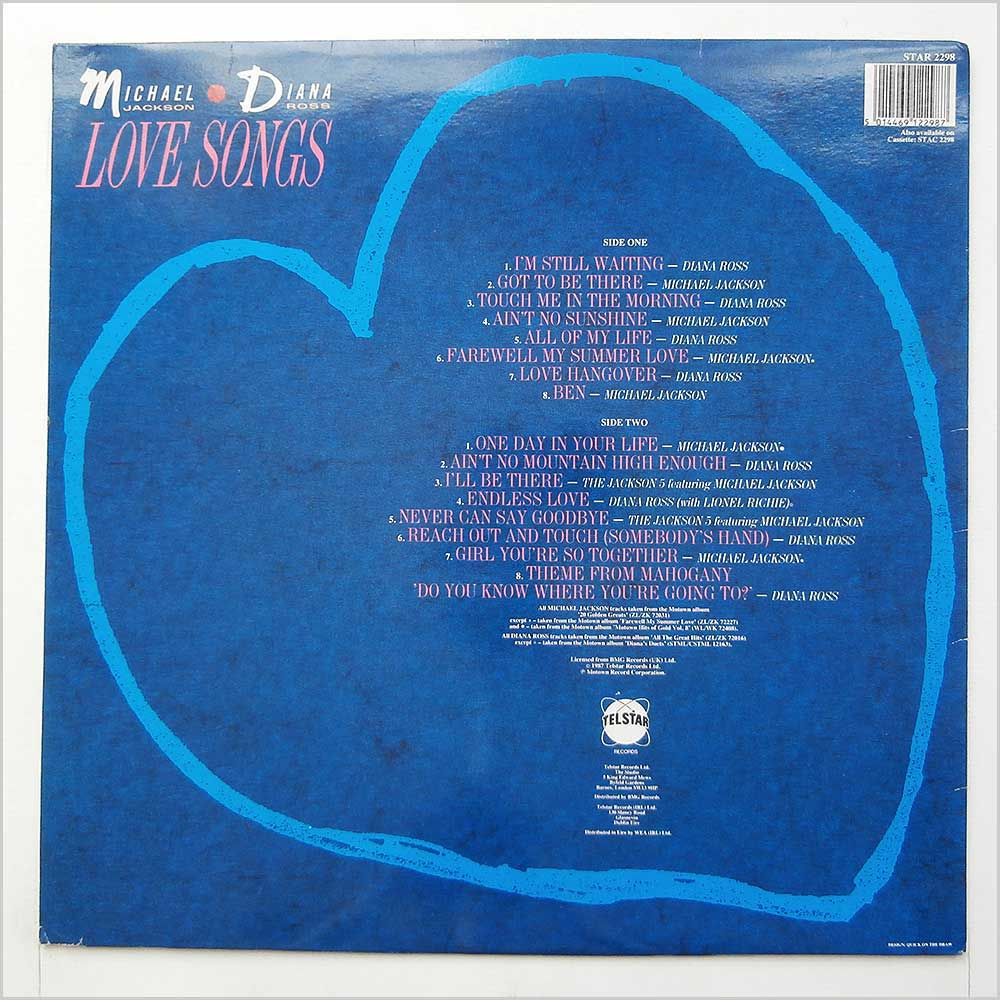 Michael Jackson and Diana Ross - Love Songs (STAR 2298)