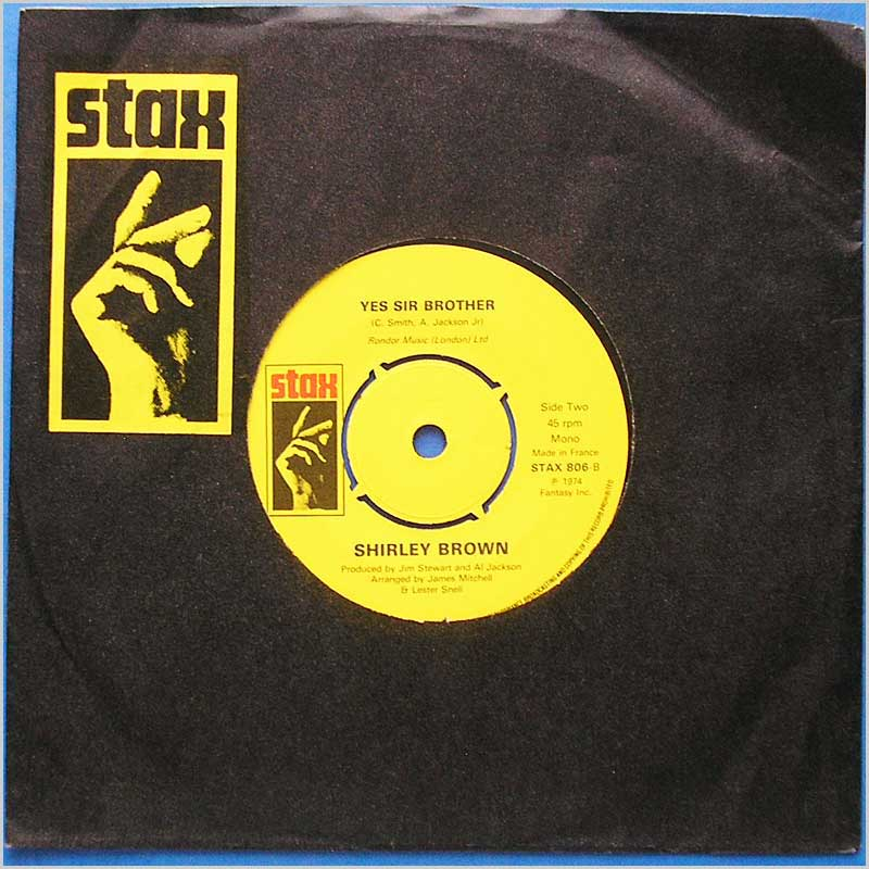 Shirley Brown - Yes Sir Brother (STAX 806)