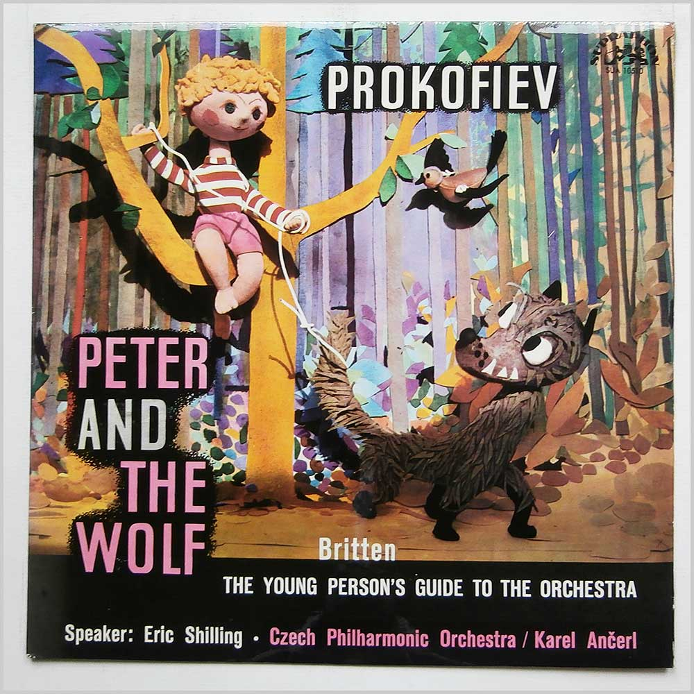 Czech Philharmonic Orchestra with Karel Ancerl - Prokofiev Peter And The Wolf (SUA 10510)