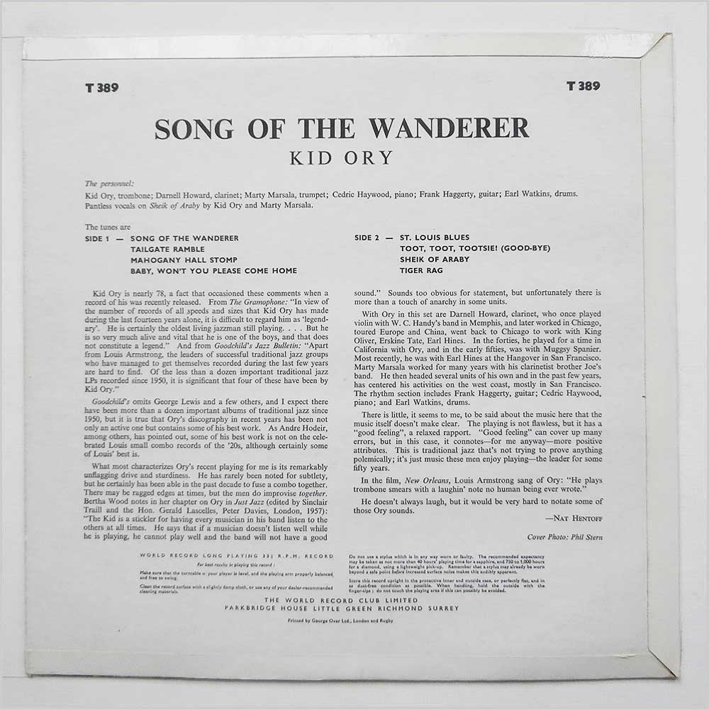 Kid Ory - Song Of The Wanderer (T 389)