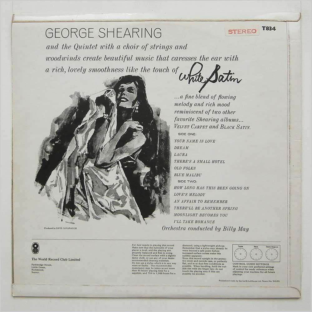 George Shearing Quintet And Orchestra - White Satin (T834)