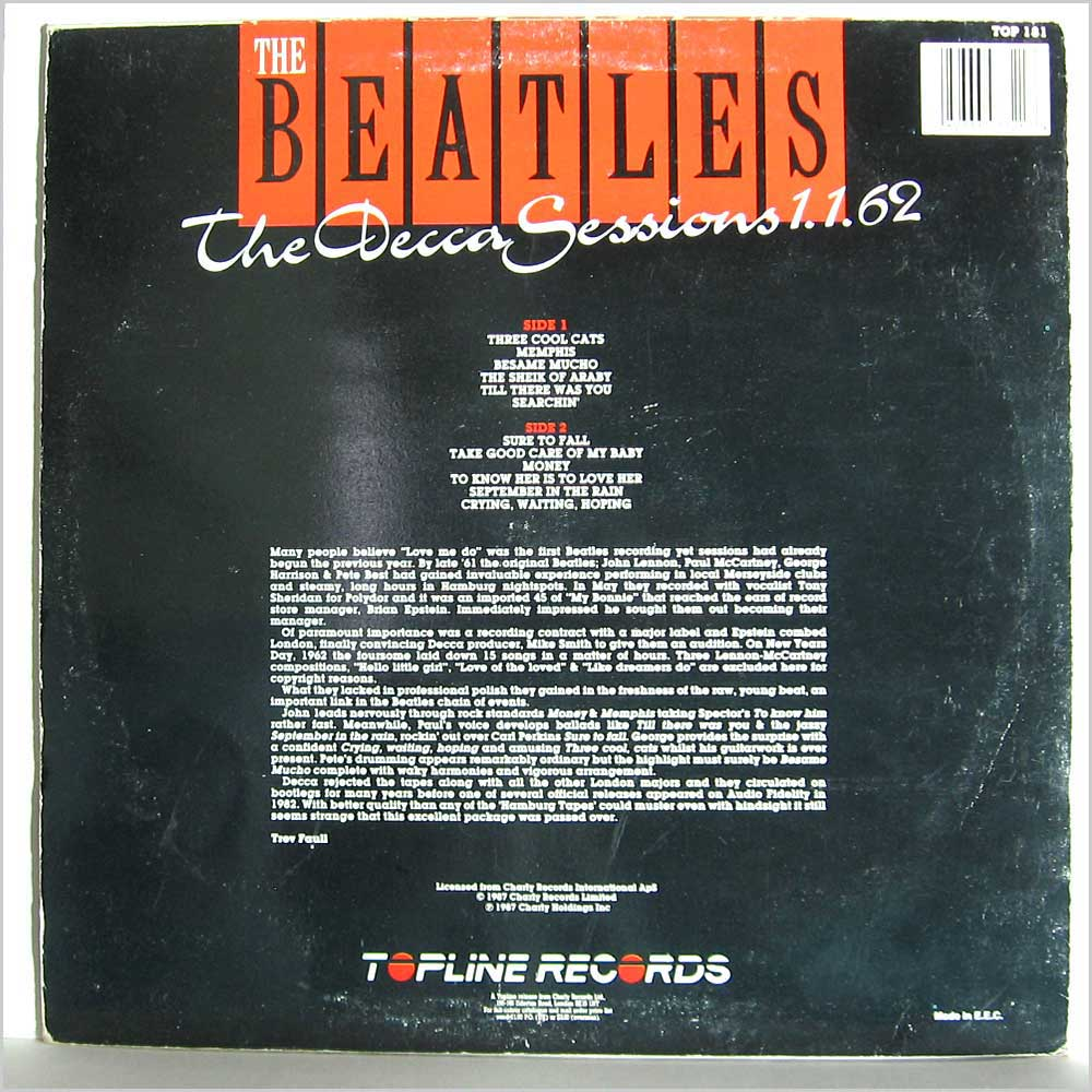 Beatles - The Decca Sessions 1.1.62 (TOP 181)