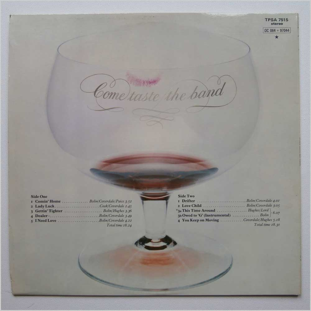 Deep Purple - Come Taste The Band (TPSA 7515)