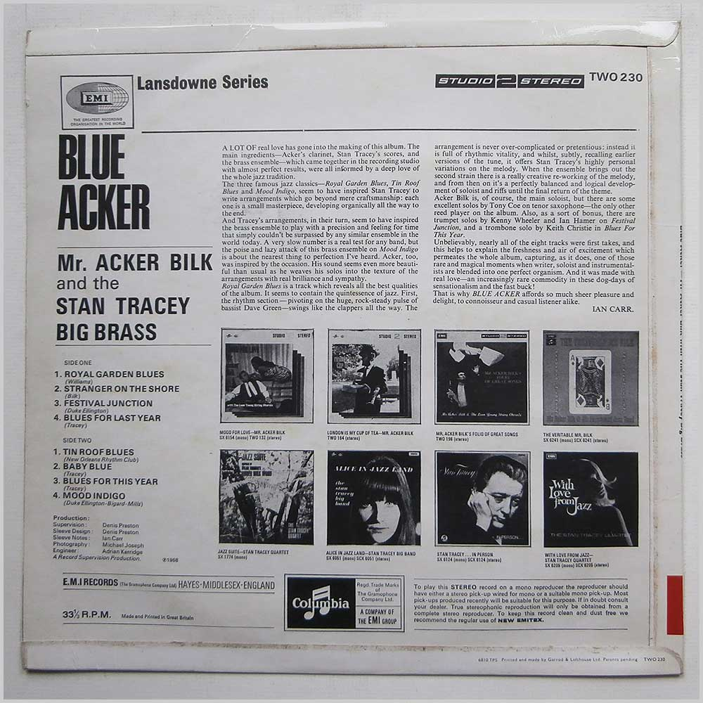 Acker Bilk - Blue Acker (TWO 230)