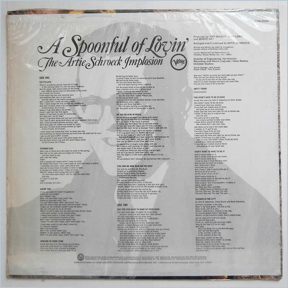 The Artie Schroeck Implosion - A Spoonful Of Lovin' (V6-5034)