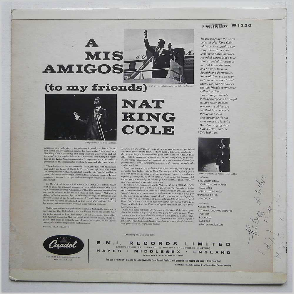 Nat King Cole - A Mis Amigos (W 1220)