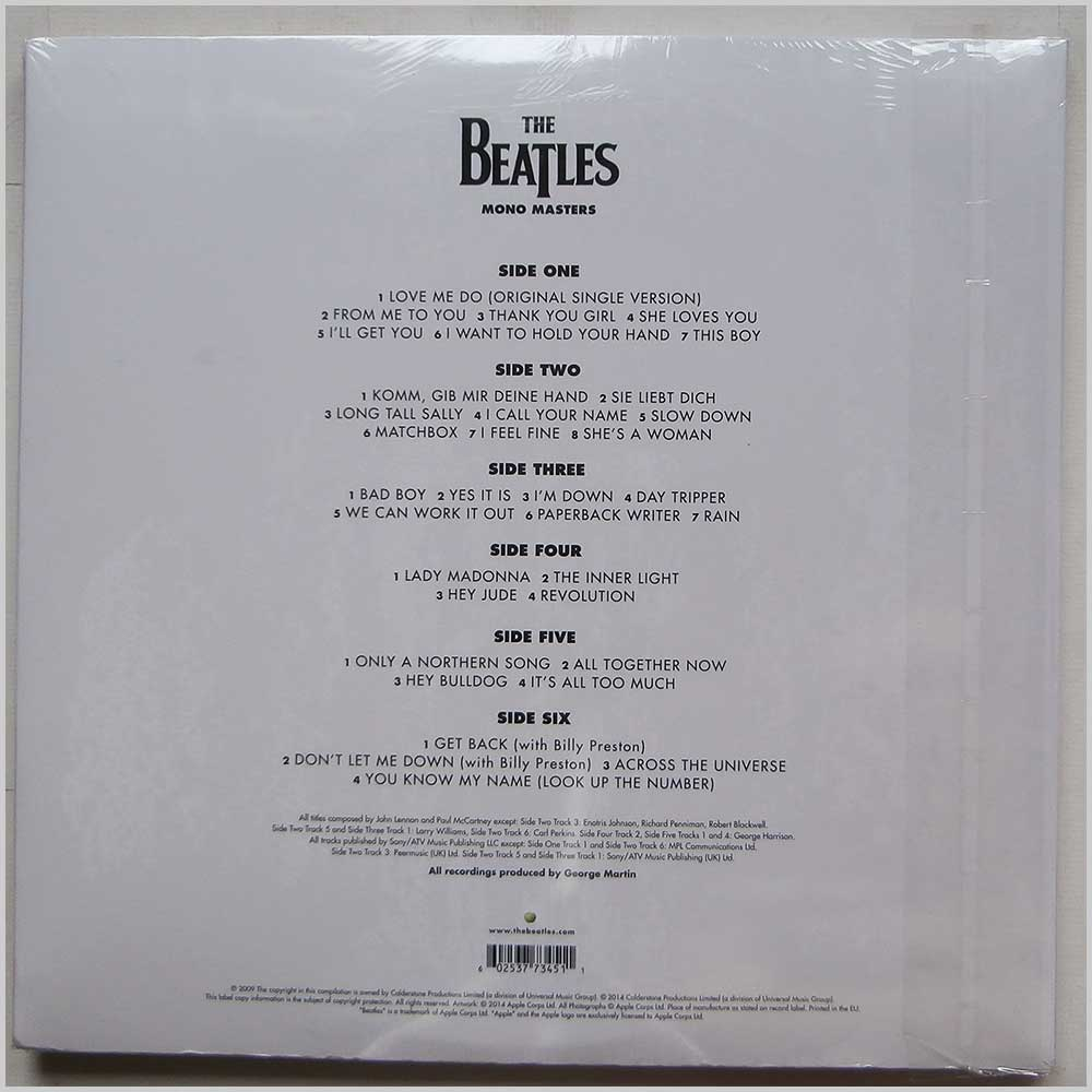 The Beatles - Mono Masters (06 02537 73451 1)