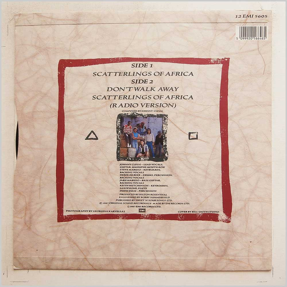 Johnny Clegg and Savuka - Scatterlings Of Africa (12 EMI 5605)