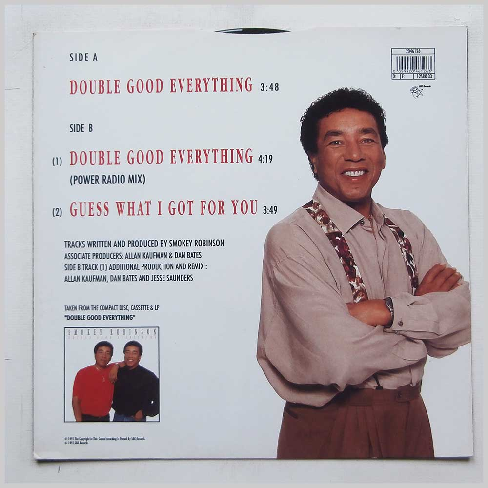 Smokey Robinson - Double Good Everything (12SBK 33)