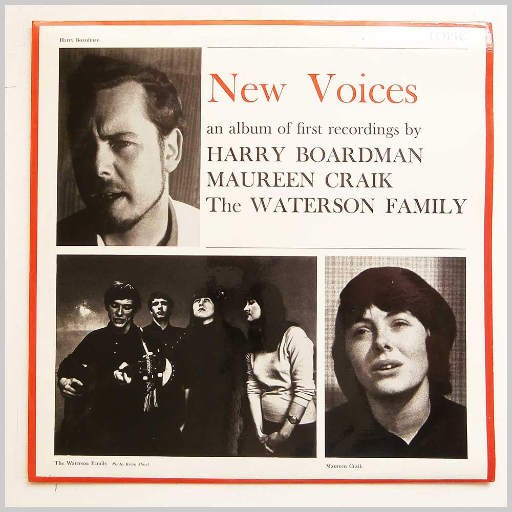 Harry Boardman, Maureen Craik, The Waterson Family - New Voices : An Album Of First Recordings (12T125)