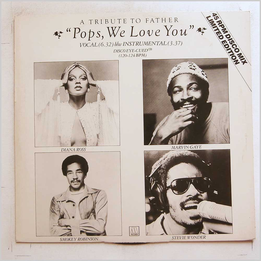 Diana Ross, Stevie Wonder - Pops We Love You (12TMG 1136)