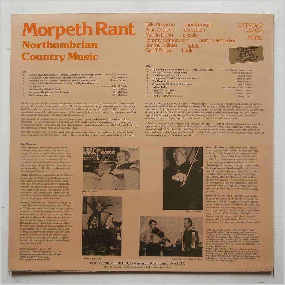 Various - Morpeth Rant: Northumbrian Country Music (12TS267)
