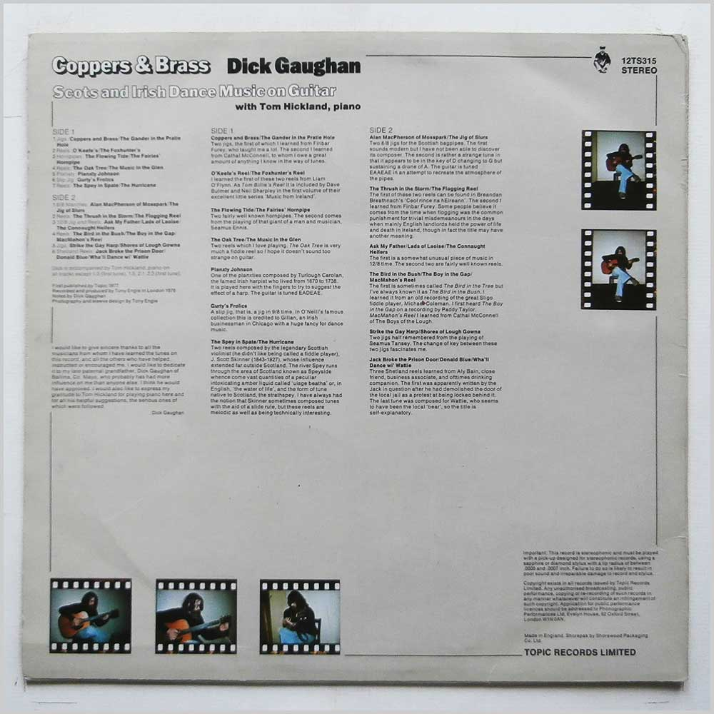 Dick Gaughan - Coppers and Brass (12TS 315)