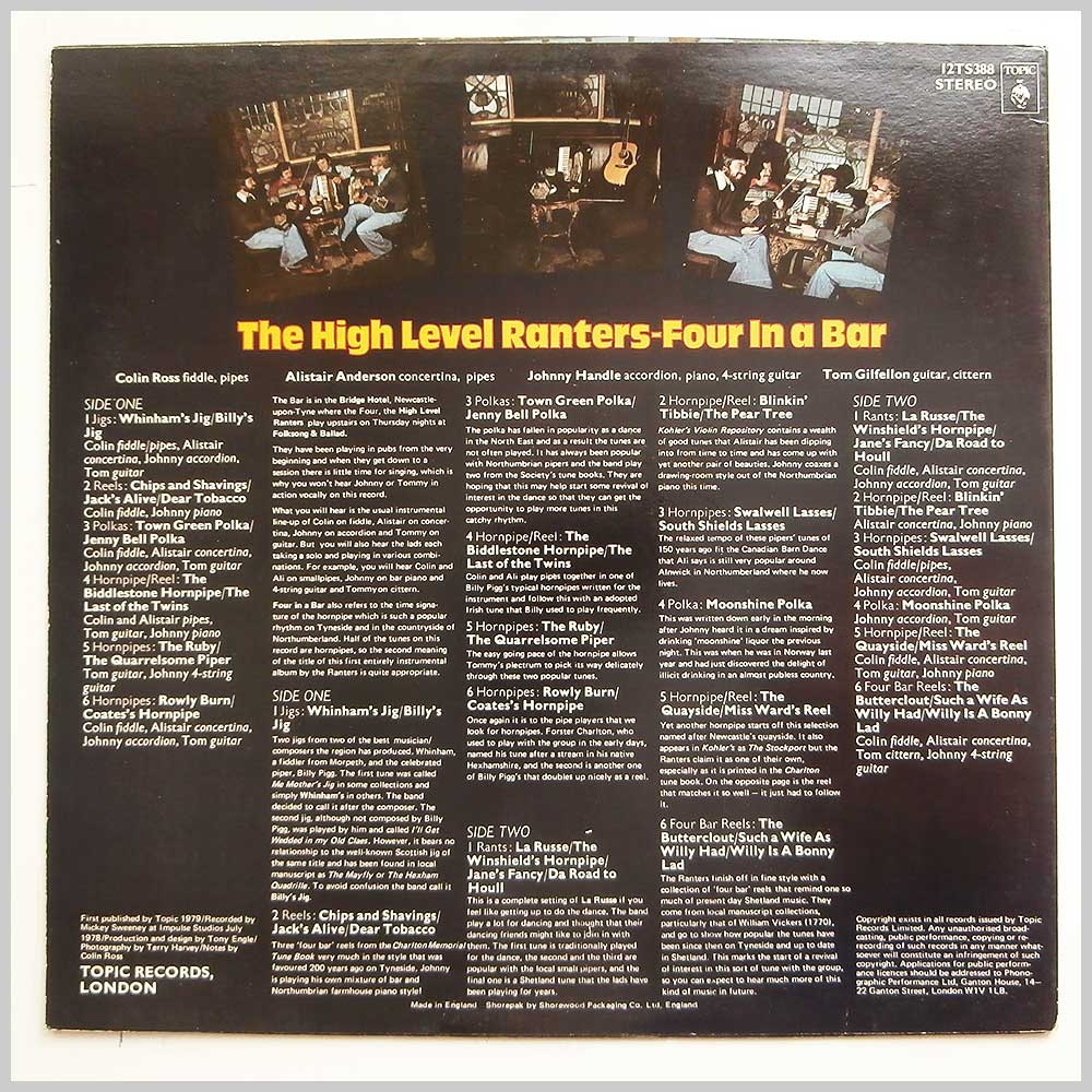 The High Level Ranters - Four In A Bar (12TS388)