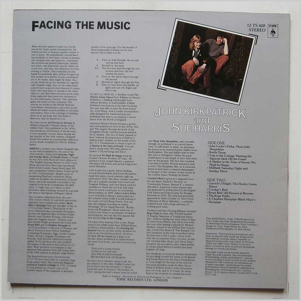 John Kirkpatrick, Sue Harris - Facing The Music (12TS408)