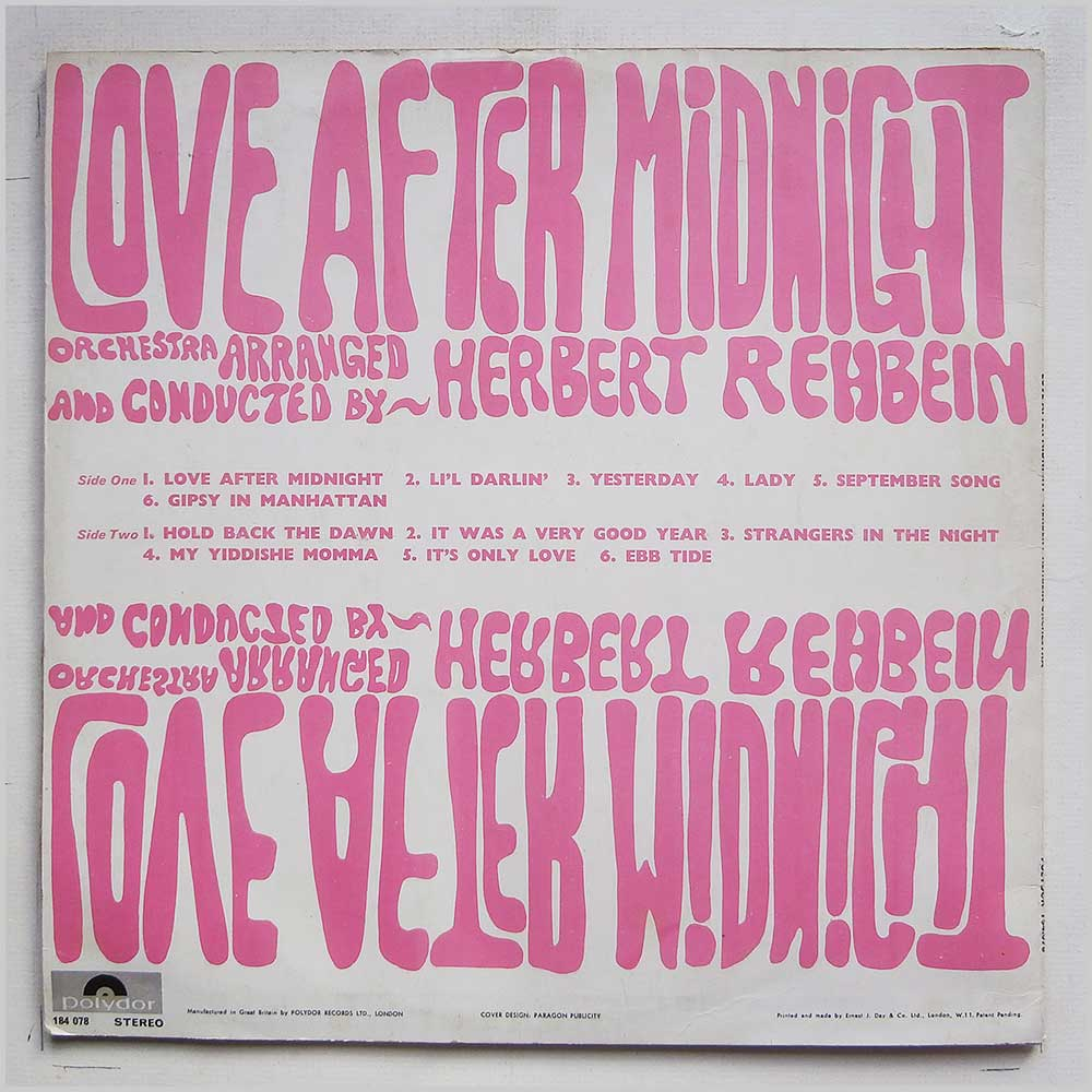 Herbert Rehbein Orchestra - Bert Kaempfert Presents Love After Midnight (184 078)