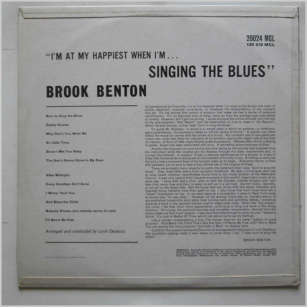 Brook Benton - Born To Sing The Blues (20024 MCL)