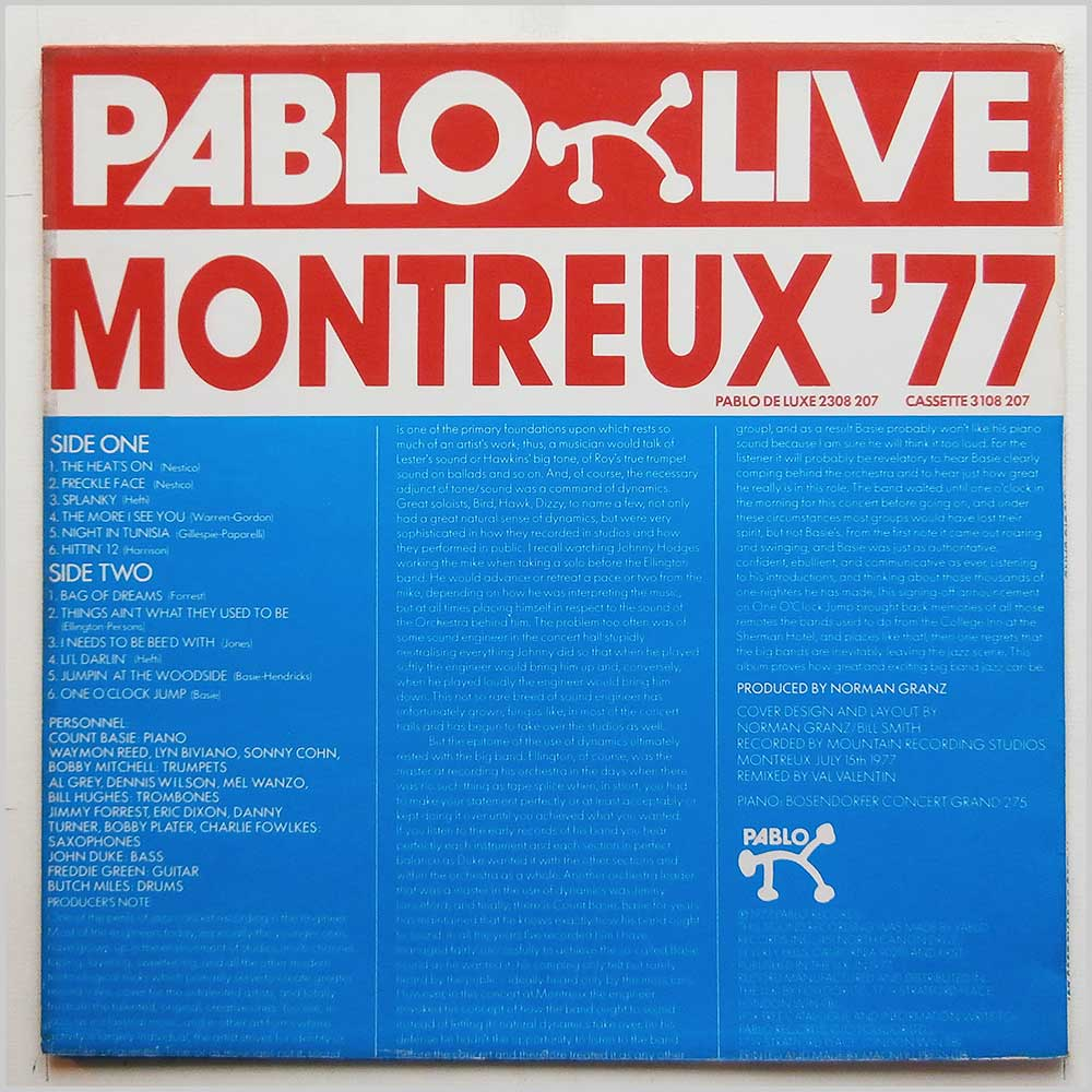 Count Basie - Count Basie Big Band Montreux '77 (2308 207)